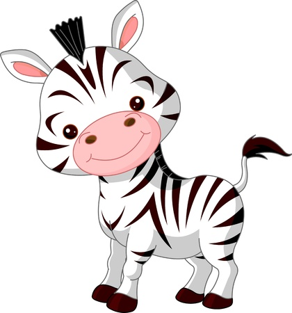 Fun zoo. Illustration of cute Zebra Stock Vector - 12269704