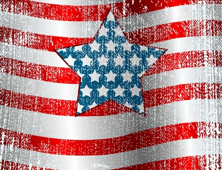 USA flag theme grunge background  Stock Vector - 12485453