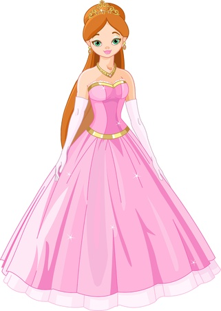 Illustration of  Fairytale princess