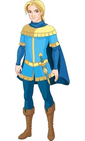 princesa: Ilustración del príncipe valiente