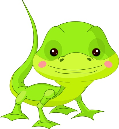 Leuke dierentuin Illustratie van leuke Lizard