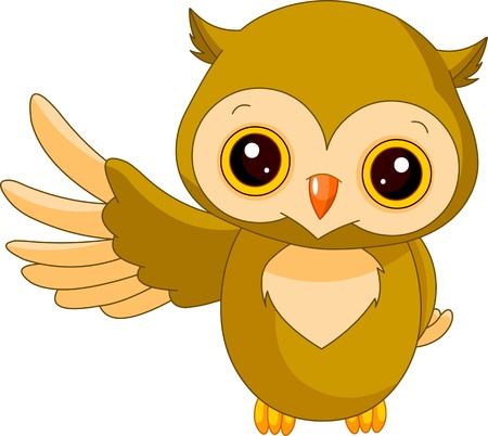 Fun zoo  Illustration of cute Owl Vector