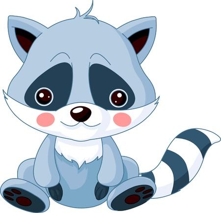 Fun zoo  Illustration of cute Raccoon