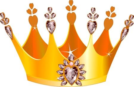 diamond clip art: Illustration of beautiful gold tiara