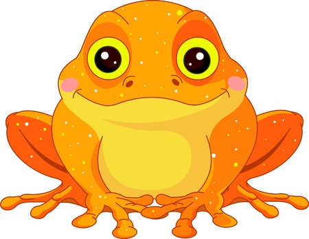Fun zoo  Illustration of cute Golden Toad Banco de Imagens - 13429725