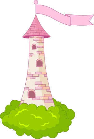 Illustration of Medieval Romantic Tower Vector