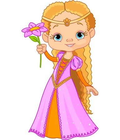 princesa: Ilustración de la pequeña princesa hermosa