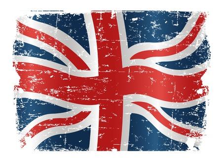 bandera inglesa: Ilustraci�n de la bandera del Reino Unido, con una textura