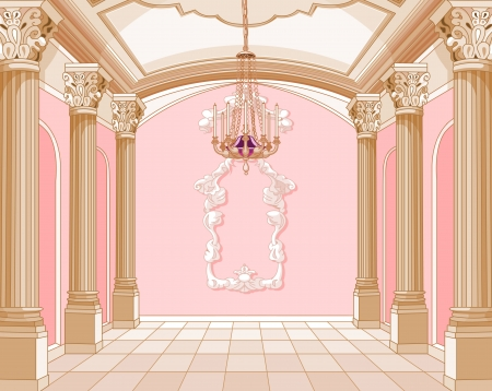 Interior of the ballroom of magic castle Stock Vector - 13633501
