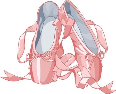 pointes: Ballet slippers