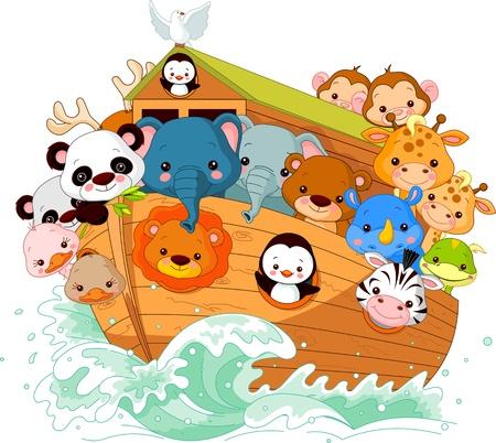 serpiente caricatura: Ilustración de Noé