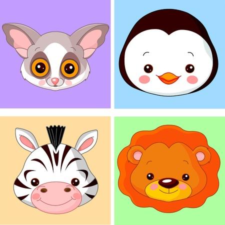 Animals cartoon characters for avatar Imagens - 14556845