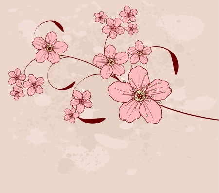 Beautiful floral design Ilustrace