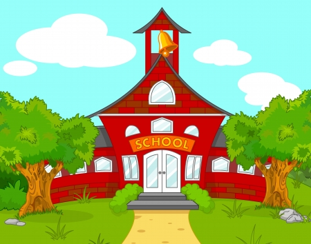 Illustration of school landscape Ilustracja