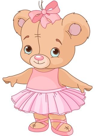 oso caricatura: Muy lindo oso de peluche bailarina