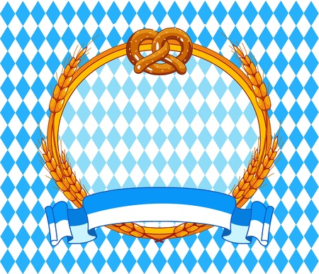 Oktoberfest  background with place for text Ilustrace