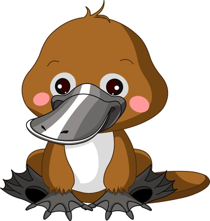 platypus: Fun zoo  Illustration of cute Platypus Illustration