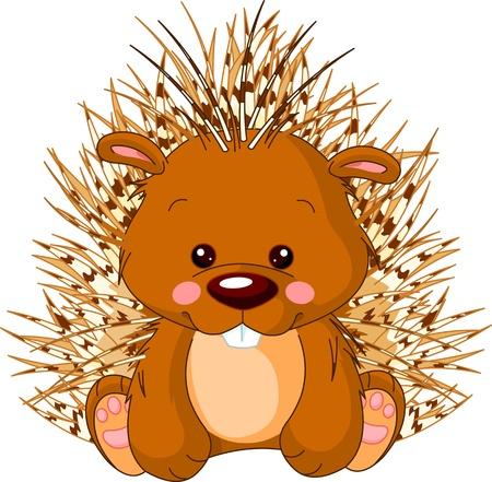 Fun zoo Illustration von niedlichen Porcupine