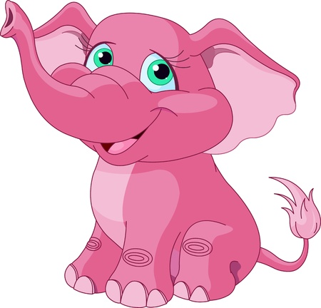 shrank: Very Cute pink elephant