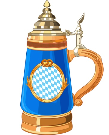 stein: Illustration of Oktoberfest Mug Illustration