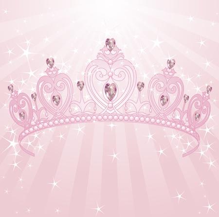 Beautiful, shining, princess crown backgrownd Vector