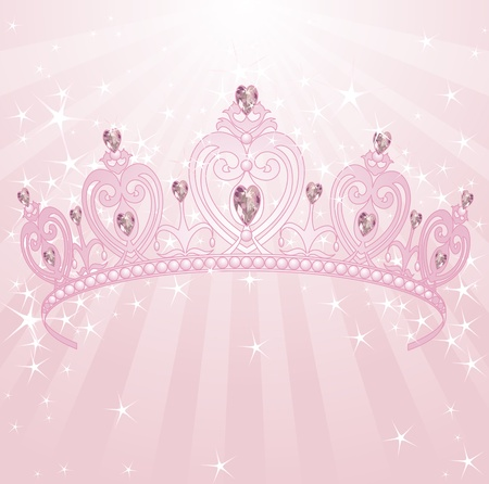 beautiful princess:   Beautiful, shining, princess crown backgrownd Illustration