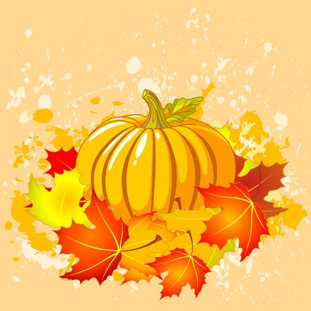 Autumn place card with copy space Stock Vector - 15128976