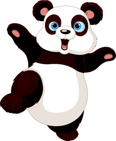 Cute Panda doing martial art Vector