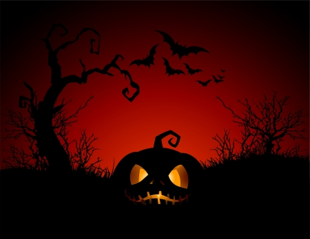 calabaza caricatura: Halloween background calabaza