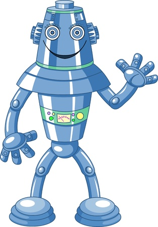 Illustration of cute cartoon robot