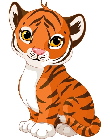 cubs:  Illustration of cute little tiger Illustration