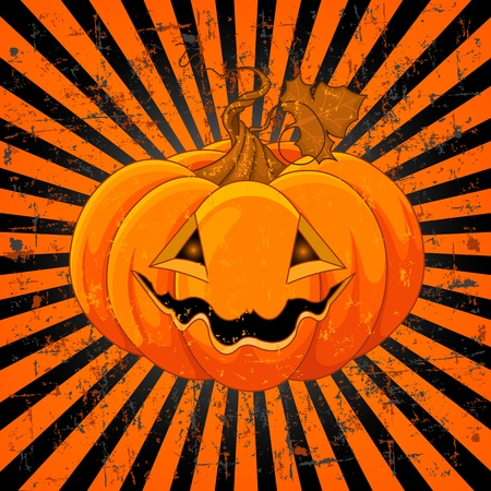 Scary Pumpkin Jack O Vector