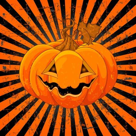 jack o: Scary Pumpkin Jack O Illustration
