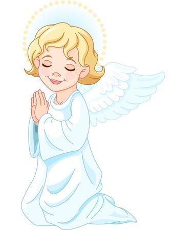 perdonar: Ilustraci�n de la natividad �ngel rezando