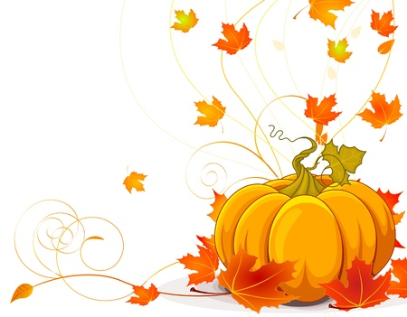 Autumn  place card background with copy space Vector
