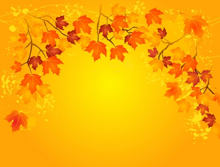 Autumn  gold background with copy space Vector
