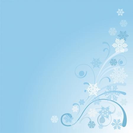 雪の結晶冬の背景