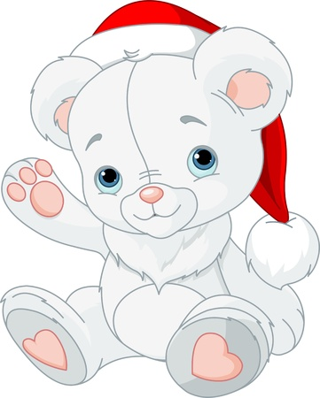 Cute Christmas Teddy Bear  Vector