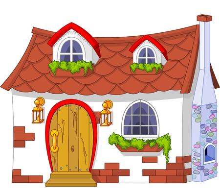 casa de campo: Ilustración de una casa linda