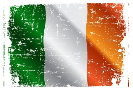 Design of Irish Flag Flying in the Wind Vector