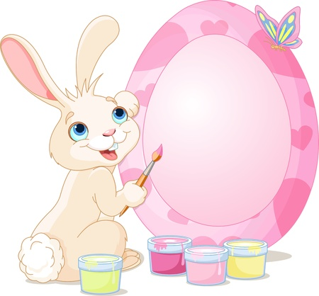 Easter Bunny painting Easter Egg  Perfect for your Easter Greeting Vector