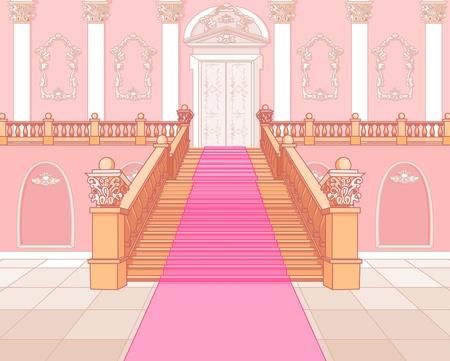 Escalier de luxe dans la magie palais