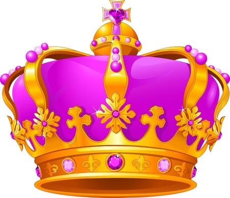 corona de princesa: Hermosa corona mágica Vectores