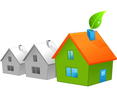 Eco green house symbol