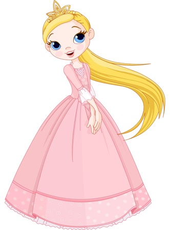 Illustration of cute princess girl Vector