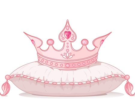 Adorable crown on the pillow Vector