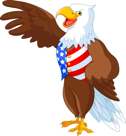 eagle: Patriotic American bald eagle presenting