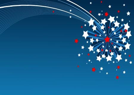An American starburst background