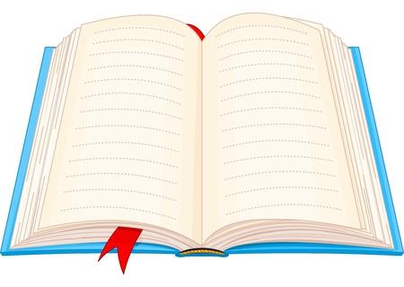 Illustratie van open boek