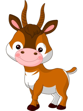 Fun zoo  Illustration of cute Antelope Vector